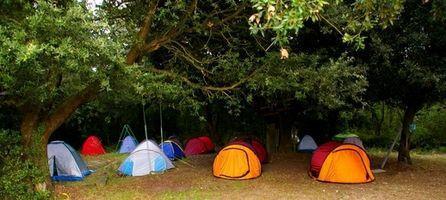 Durante la noche los campamentos de verano en Massachusetts