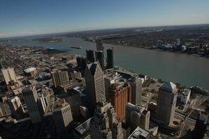 Edificios históricos en Detroit, Michigan