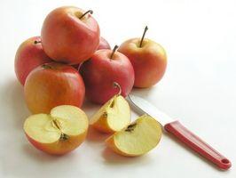 Cómo cortar arriba y manzanas de las tiendas