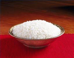 Las instrucciones para la cocina de arroz