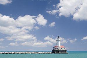 Historia del puerto de Chicago Faro