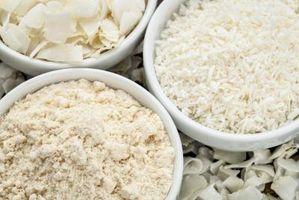 Cómo sustituir coco Harina de trigo Harina