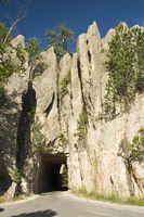 RV que acampa en el parque estatal Custer