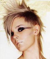 Cortes de pelo entrecortado Punkrock para niñas