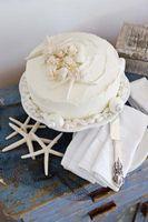 Decoraciones comestibles de la torta Seashell