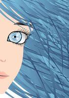 ¿Cómo el color de su pelo azul