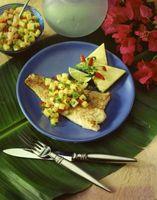 Ideas para la cena de pescado y salsa de mango