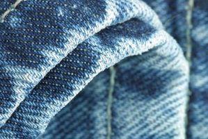 Cómo lavarse las Jeans azul con líneas blancas