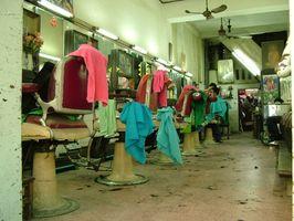 Las herramientas usadas en salones de belleza Barber &