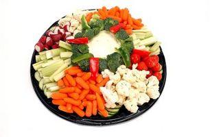 Preparación bandeja de verduras