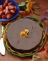 Cómo hacer fácil naranja del chocolate que hiela El uso de polvo de cacao