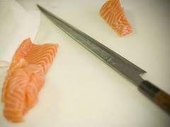 Cómo afilar un cuchillo Sushi