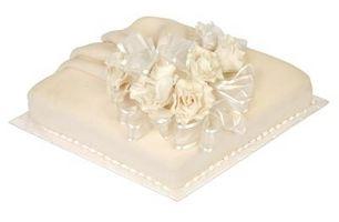 Cómo decorar una torta cuadrada con un color