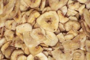 Cómo cocer al horno chips de plátano