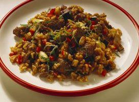 Basmati marrón arroz de cocción llegar