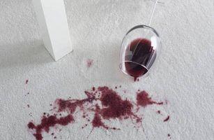Remedio casero para las manchas de vino rojo