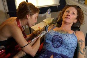 Información de la tinta del tatuaje blanco