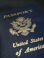 Las especificaciones para un pasaporte de los EEUU de fotos