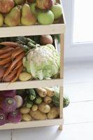 Forma de guardar manzanas y las zanahorias