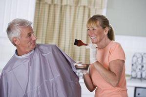 Como el color y el pelo del punto culminante en el hogar
