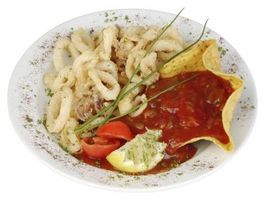 ¿Cuál es el truco para hacer talud del palillo para los calamares fritos?
