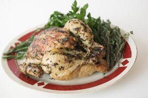 ¿Cómo se Dobla las alas asar un pollo?