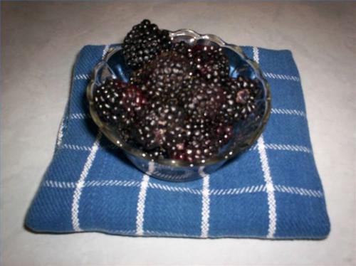 Cómo hacer la salsa de Blackberry del helado