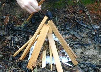 Cómo construir una fogata