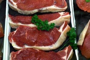 Cómo cortes de carne de Grado