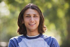Los cortes adolescentes y estilos para el pelo largo