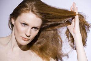Cómo tinte rojo marrón del pelo