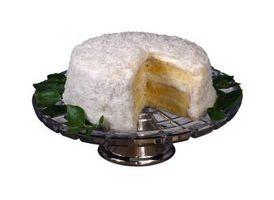 Cómo hacer un pastel de caja blanca en una torta de coco