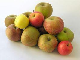 Refrigeración manzanas en rodajas