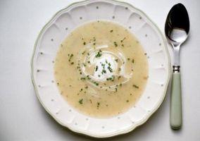 Se puede congelar sopa de patatas que contienen?