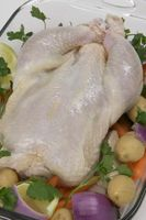 Cómo Dejar cocer un pollo entero
