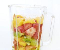 Cómo jugo de fruta congelada