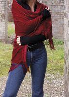 Cómo usar una bufanda que está en una forma cuadrada