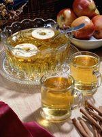 Refrescos para servir con la sidra de manzana caliente
